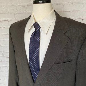 Jos A Bank Gray Wool 2 Button Sport Coat Blazer